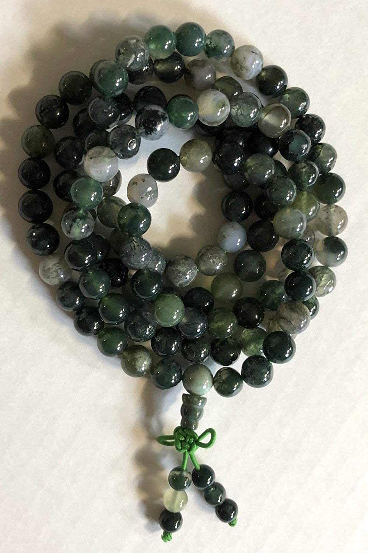 5 SETS Green Moss agate 3 hole beads,T-Beads Set Guru Beads Mala Making Cones Beads Prayer Beads T hole set big hole beads