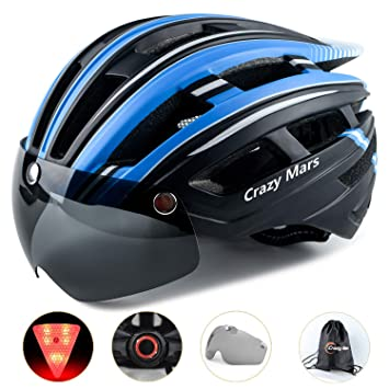 Amazon.com: Crazy Mars - Casco de bicicleta para adulto con ...