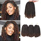 Xtrend 90strands 8 Inch Spring Twist Hair for Distressed Butterfly Locs Ombre Colors Passion Twist Fluffy Twist Hair…