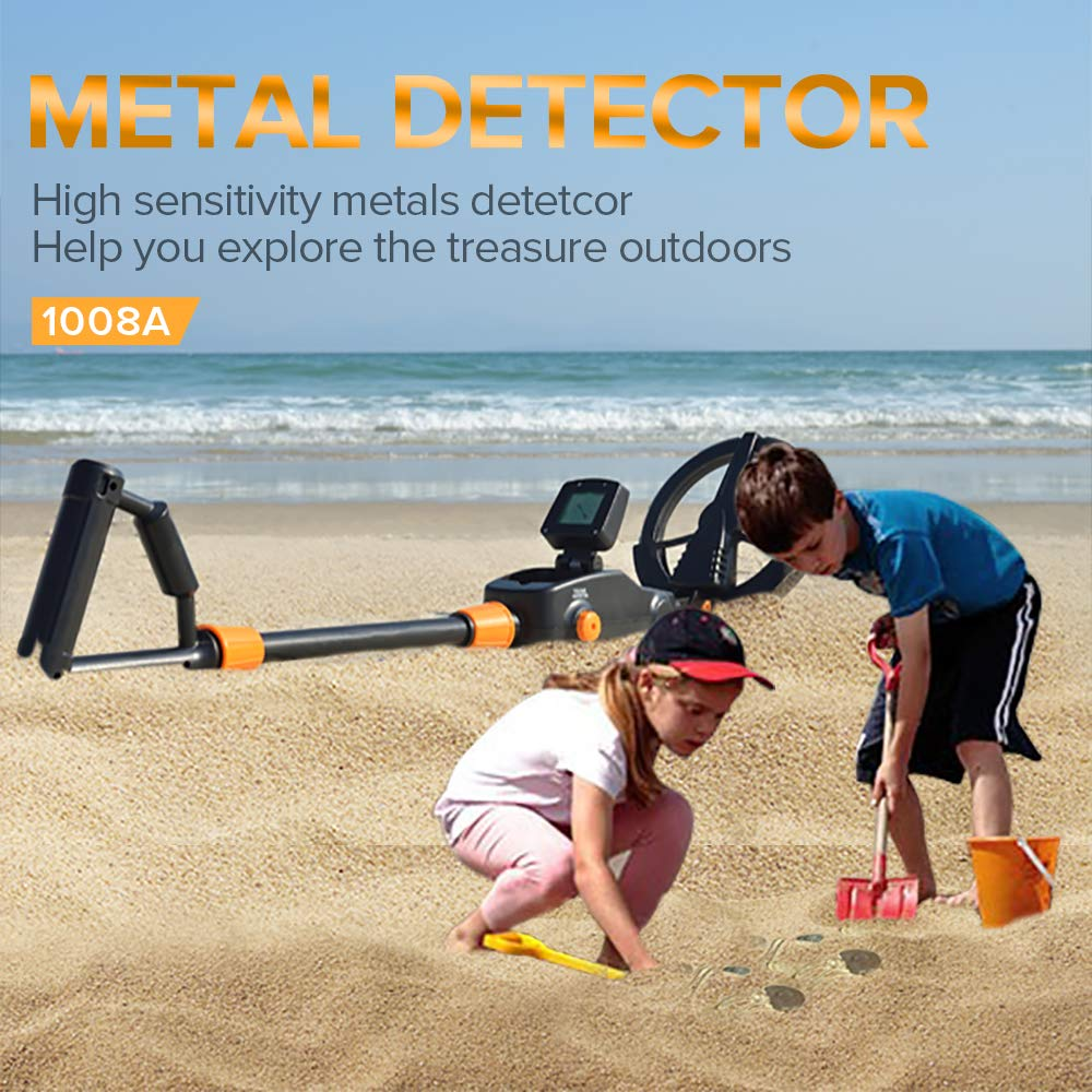 SHUOGOU md-1008 a detector de metales Advanced Kid s Playa búsqueda máquina niño buscador de oro tesoro Hunter LCD diaplay: Amazon.es: Jardín