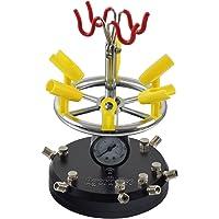 Agora-Tec ® Aérographe Holder at-03Ah pour support de 8Pistolets Airbrush avec ventilgesteuerten Central Air + manomètre + Pied Massif avec 3ventouses 360°
