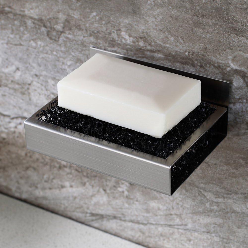 filtre /à entonnoir savon cuisine /éponge Minzhenamz Porte-savon mural autocollant en plastique ABS sans per/çage pour salle de bain