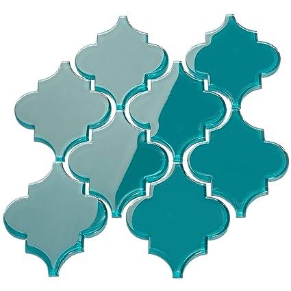 Amazon.com: Giorbello - Azulejo árabe de cristal, Verde ...