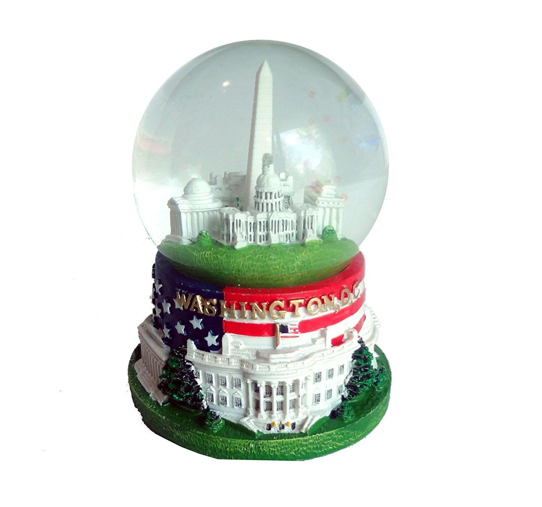 6,3/cm Durchmesser Snow Globe mit Flagge D.C Ber/ühmte Geb/äude von Washington