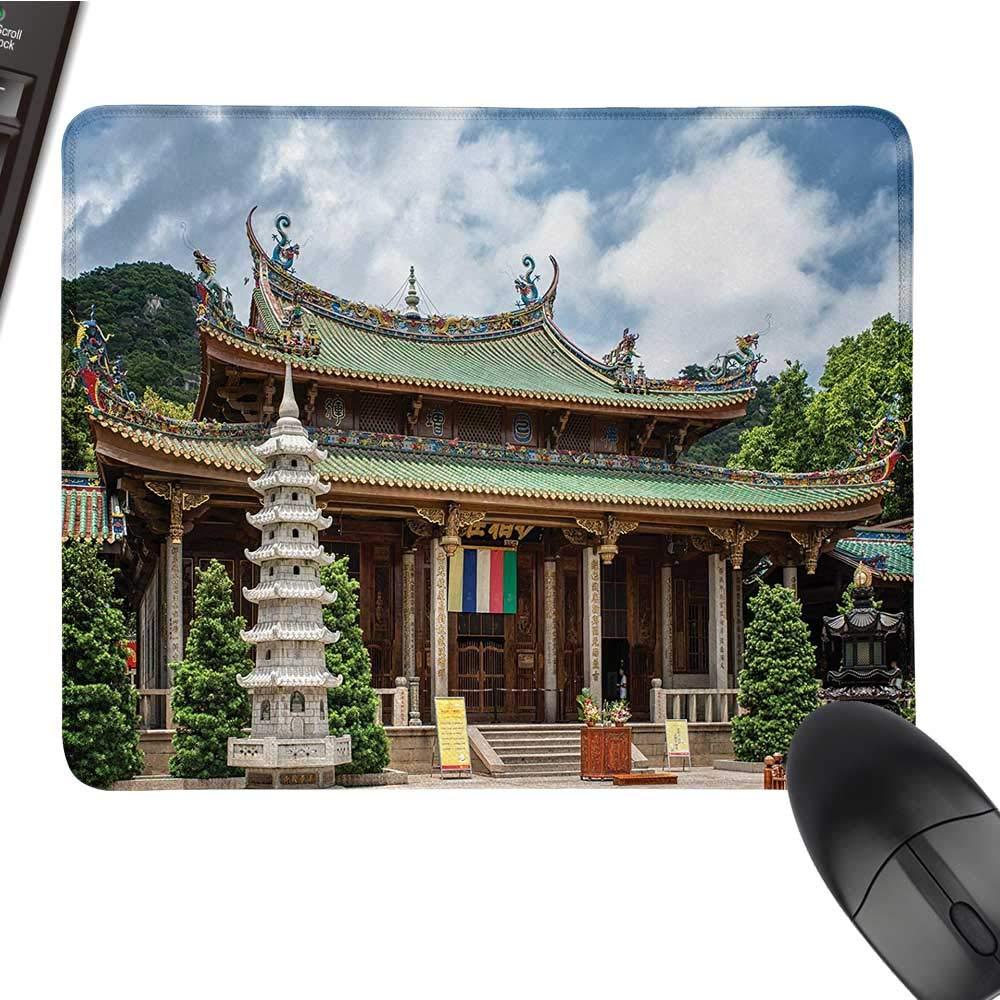 古代中国カスタマイズ マウスパッド 南プチュオ 寺院 ランドマーク レトロな外観 建物 富士の修道院 カスタマイズマウスパッド 9.8インチ x 11.8インチ マルチカラー 15.7