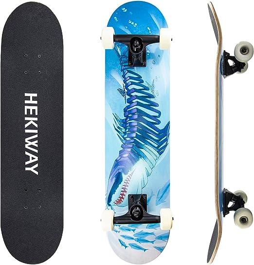 Hekiway Skateboard-Deck, komplettes Board mit ABEC-7-Kugellage für Kinder kaufen