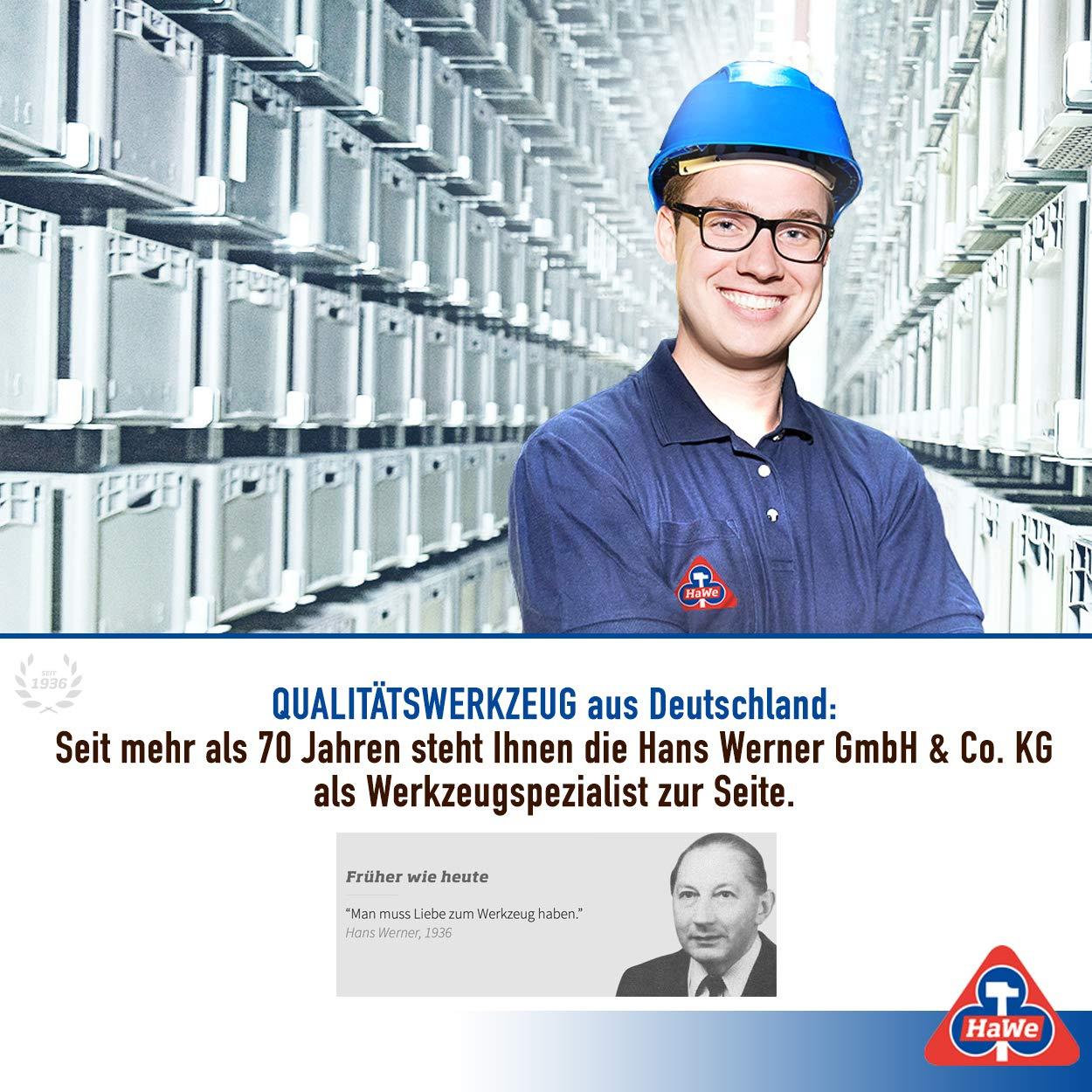 Handbeil mit Stahlrohrstiel Maurerbeil HaWe Profi Gipserbeil Maurerhammer 600 g Kunststoffgriff Rutschfest