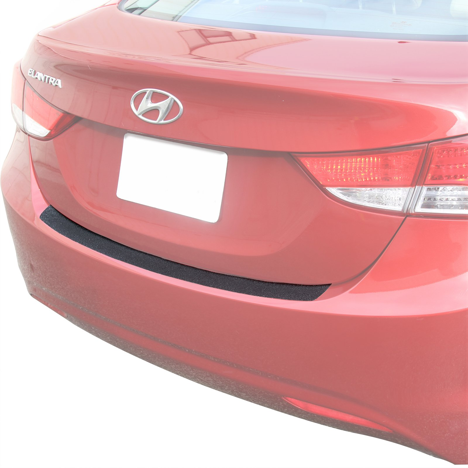 Custom Fit 2011-2013 Compatible with Hyundai Elantra Rear Bumper Scuff Plate Scratch Protector Paint Threshold Protection