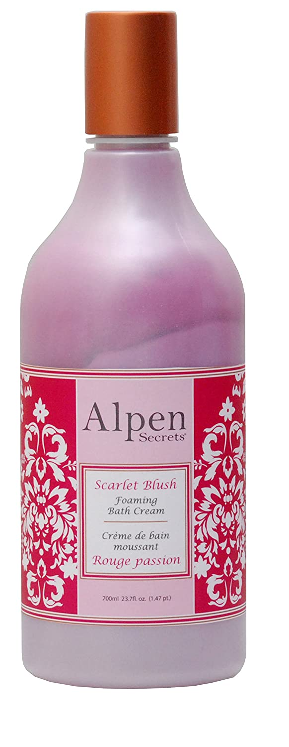 ALPEN SECRETS Scarlet blush luxury foaming bath cream 700ml AD1001