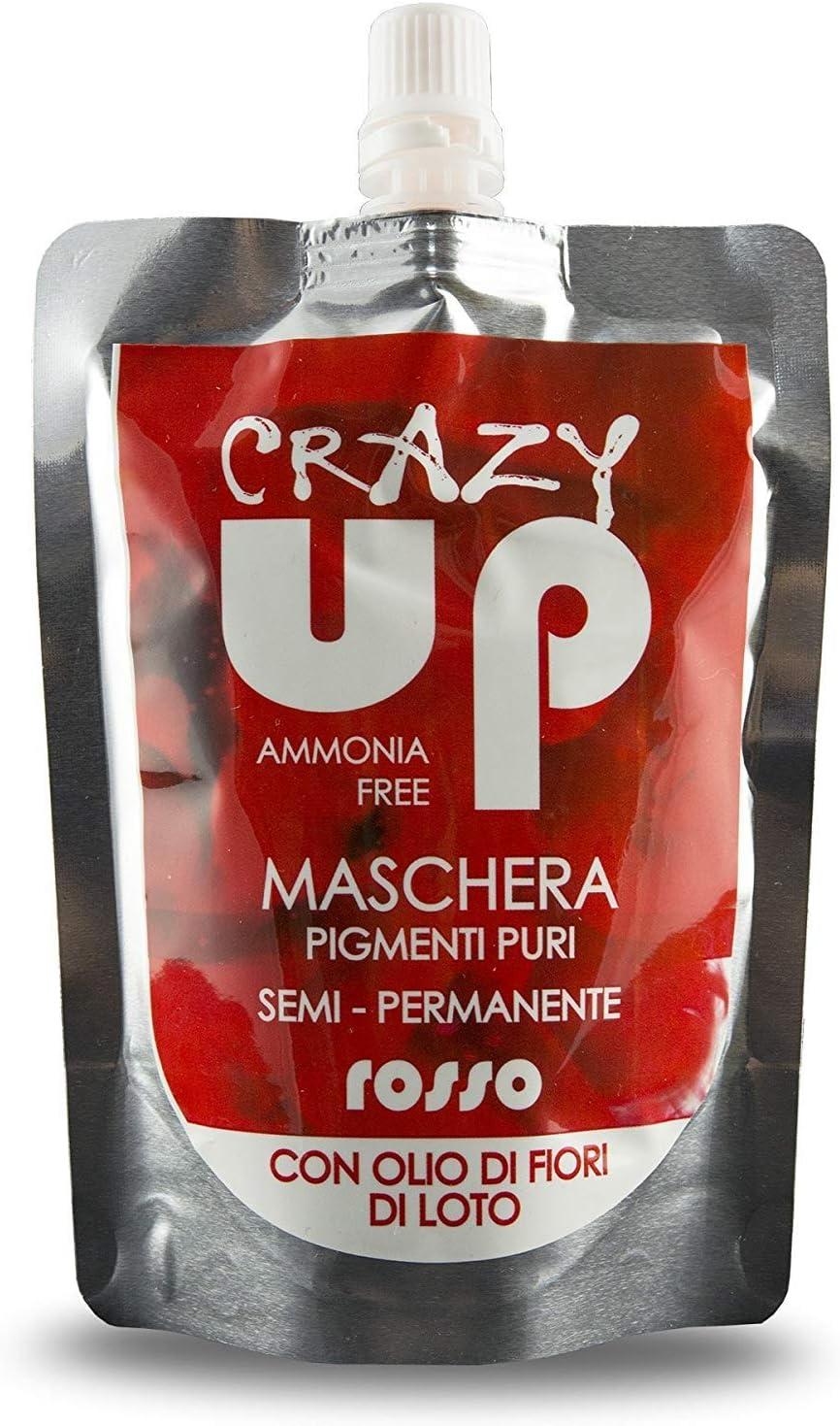 Crazy Up Mascarilla Colorante Sin Amoniaco Semipermanente para el cabello - Rojo - 200 ml