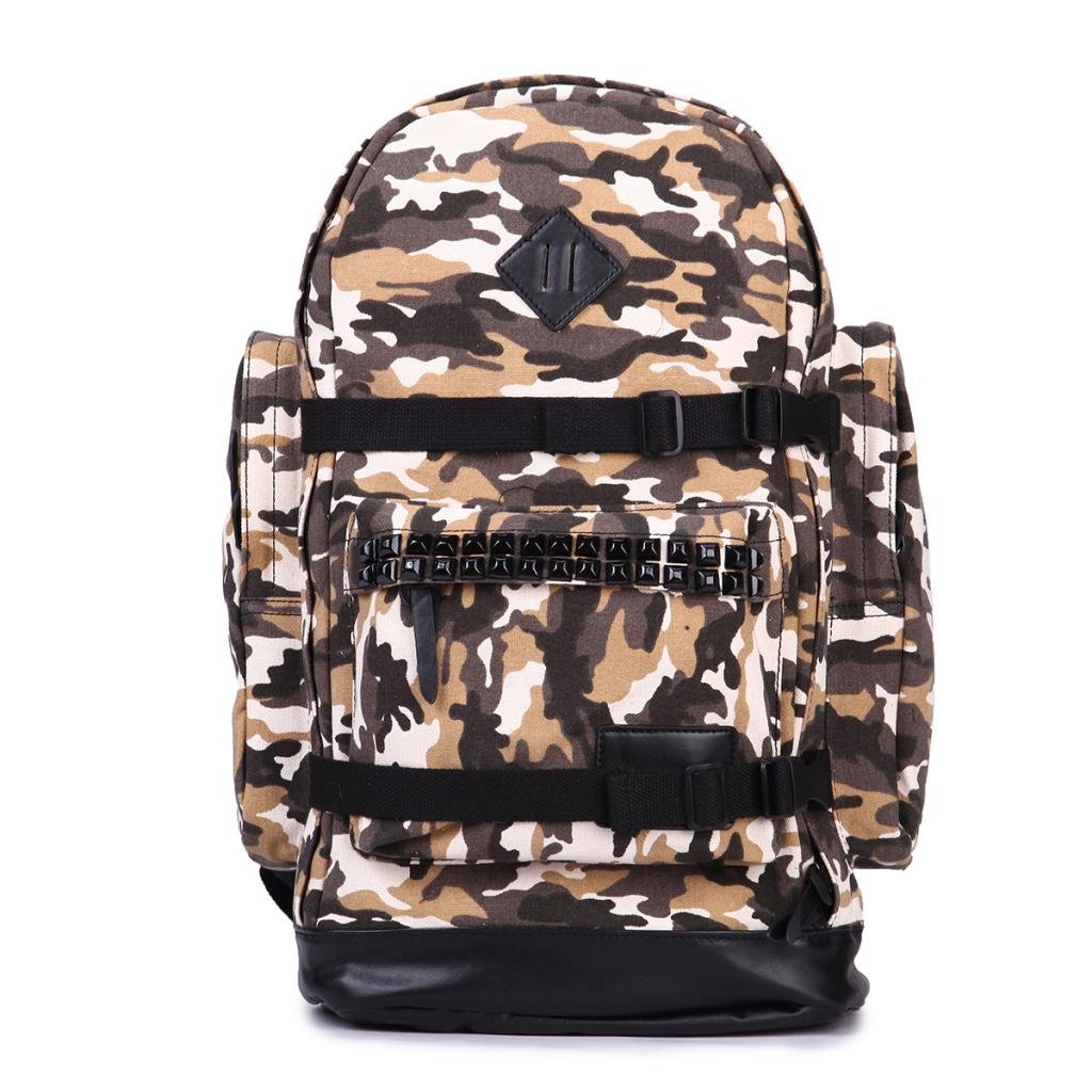 Eshow Mens Canvas Military Daypack Shoulder bags Backpack Weekend Travel Hiking, Land Camo Eshow-BFB002661