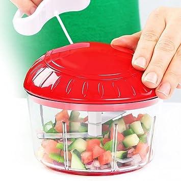 Picadora de alimentos manual, compacta y potente, para verduras, verduras, verduras,