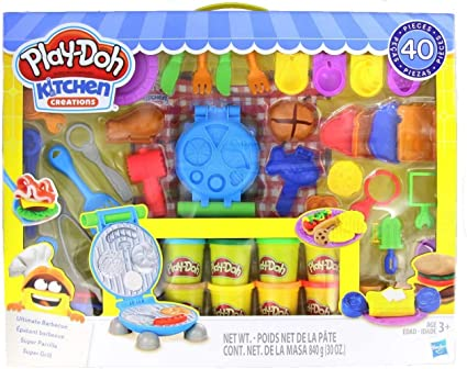 Play Doh Kitchen Creations Ultimate Barbecue Set Create Make Meals With Kitchen Tools 40 Piece 10 Cans Of Amazon Ca Toys Games