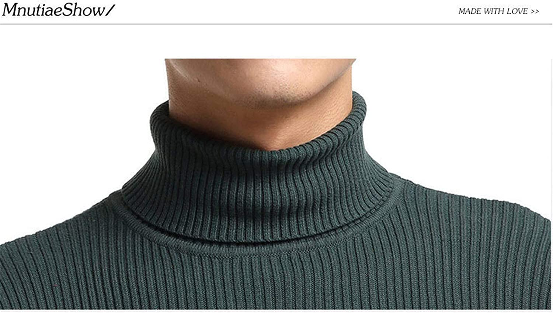Mann Pullover und Pullover Baumwolle Herren Rollkragenpullover Langarm Casual Solid Tops Khaki