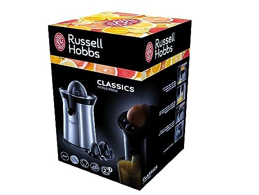 Russell Hobbs 22760-56 Classics - Exprimidor De Acero Inoxidable, 2 Conos Exprimidores Intercambiables (Reacondicionado Certificado): Amazon.es: Hogar