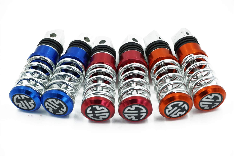 BGT BGT-Accessoires De Moto 8mm Universel De P/édale De Moto Concise Antid/érapant MotoSpring P/édale En M/étal Repose-Pieds De Cale-Pieds Universel Pour Suzuki Yamaha De Cale-Pieds Couleur : Rouge