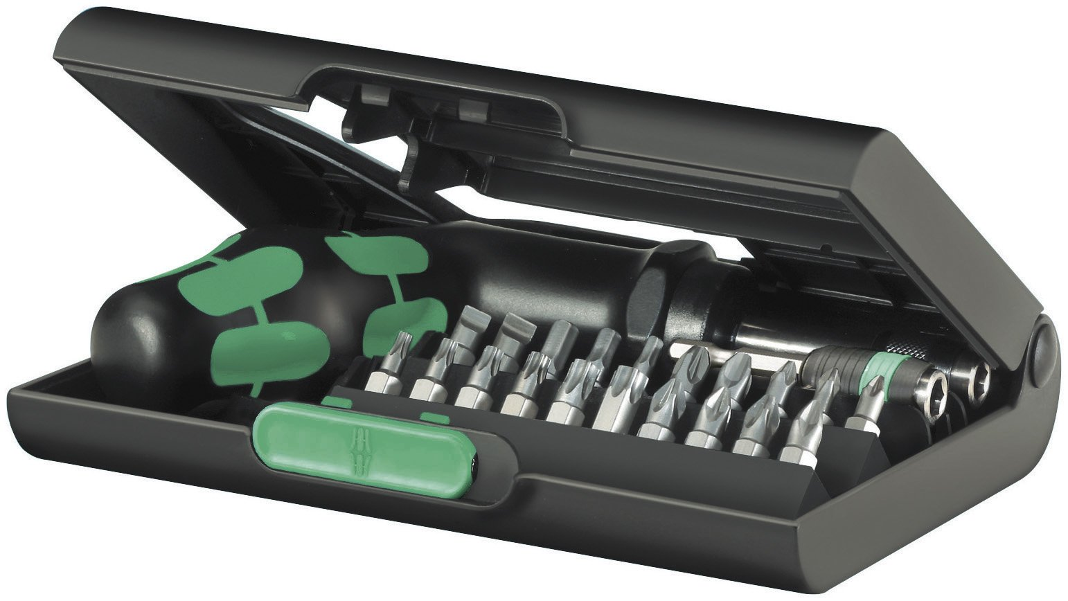 Wera KK 90 Kraftform Ratchet and Bit Set with Rapidaptor One-Hand Technology, 22-Piece