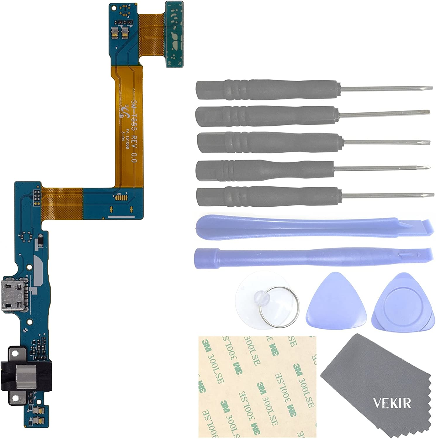VEKIR USA Charger Port Headphone Port Home Button Flex Cable for Samsung Galaxy Tab A 9.7 T550 T555 P550
