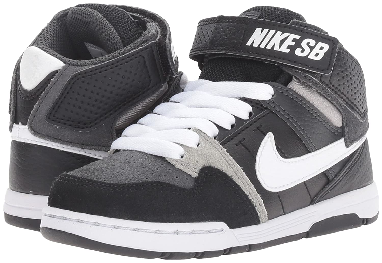 the best attitude 507eb ce91f Zapatillas NIKE Kids Mogan Mid 2 Jr Skateboarding Antracita   Blanco   Negro    Gris Mediano