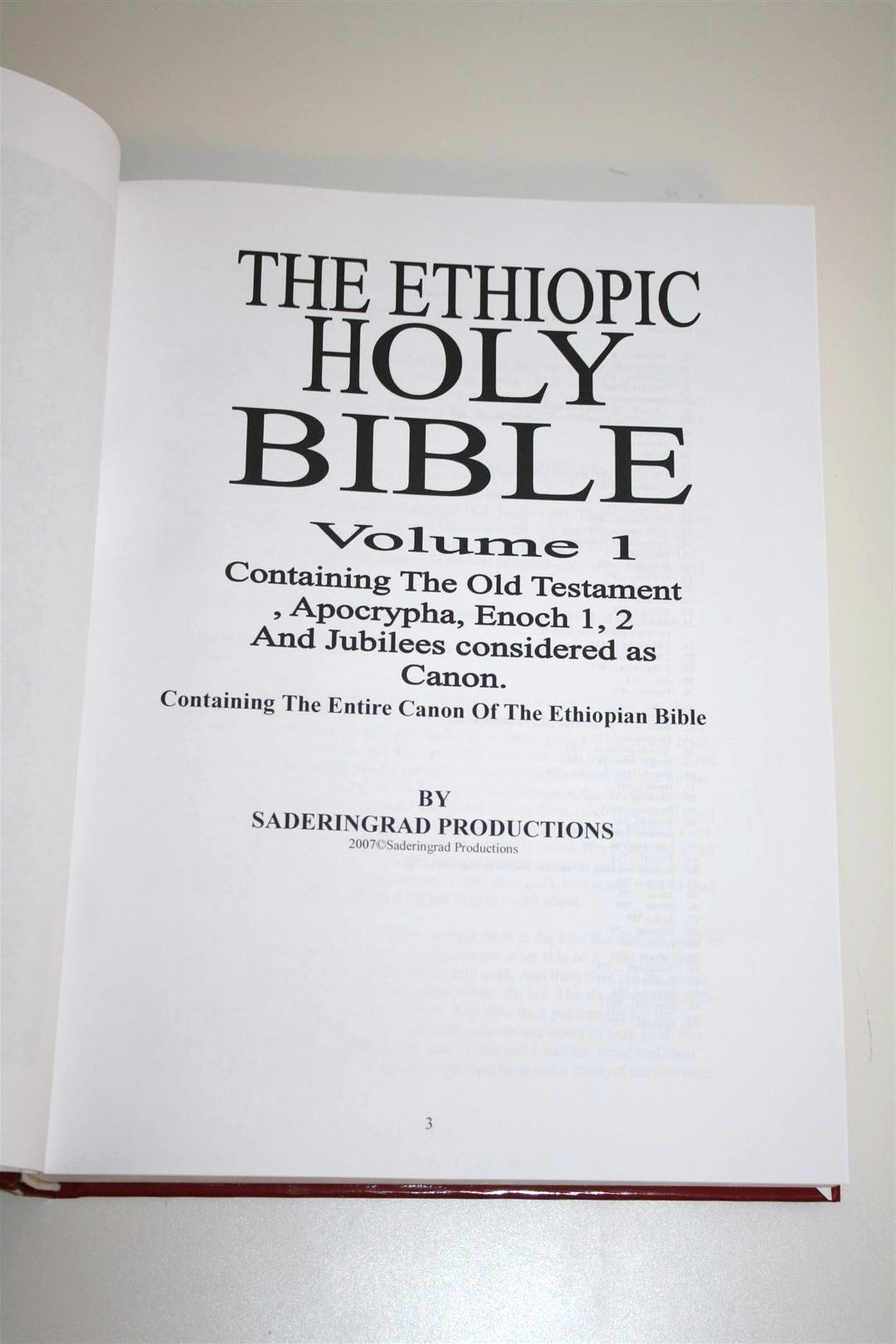HOLY BIBLE Ethiopic Version / Volume 1 Containing the Old Testament