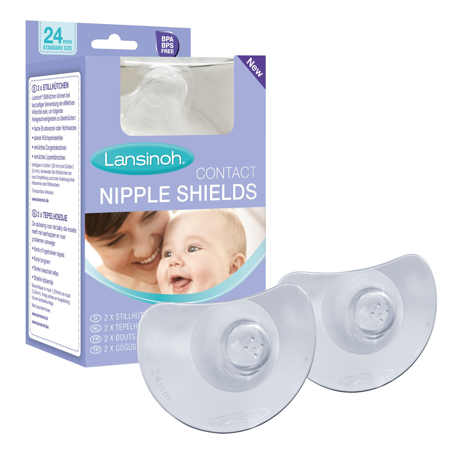 Lansinoh Contact Nipple Shields with Case (20mm Medium) Lansinoh Laboratories Inc. UK