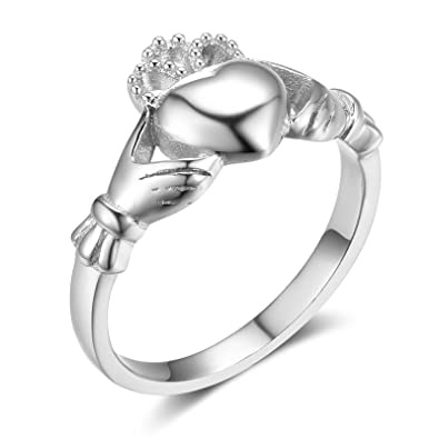 72772f9ec86ba Amazon.com: MoAndy 925 Sterling Silver Traditional Claddagh Celtic ...