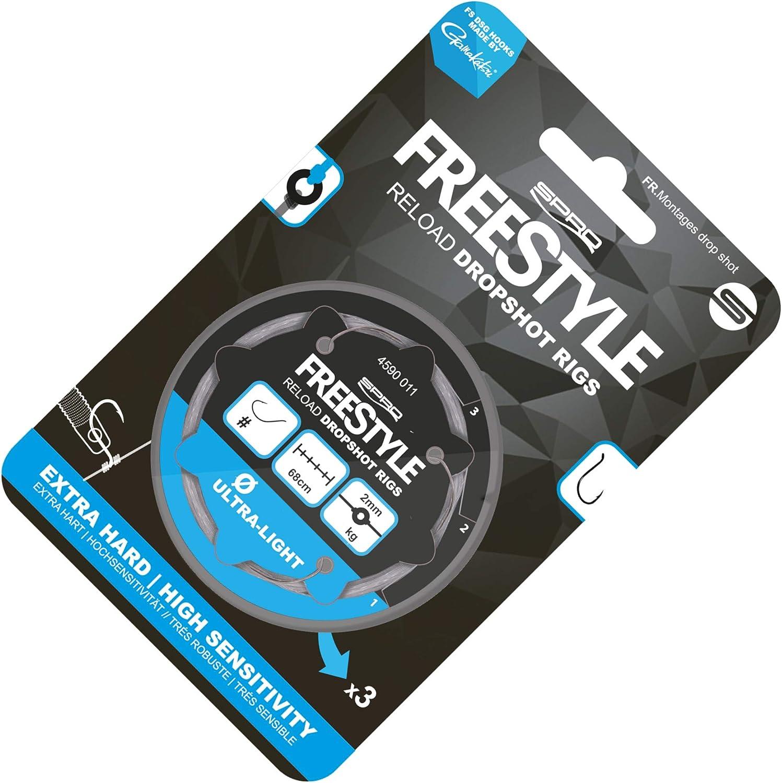 Spro Freestyle Reload Dropshot Rig 18-0.18 mm Set of 3