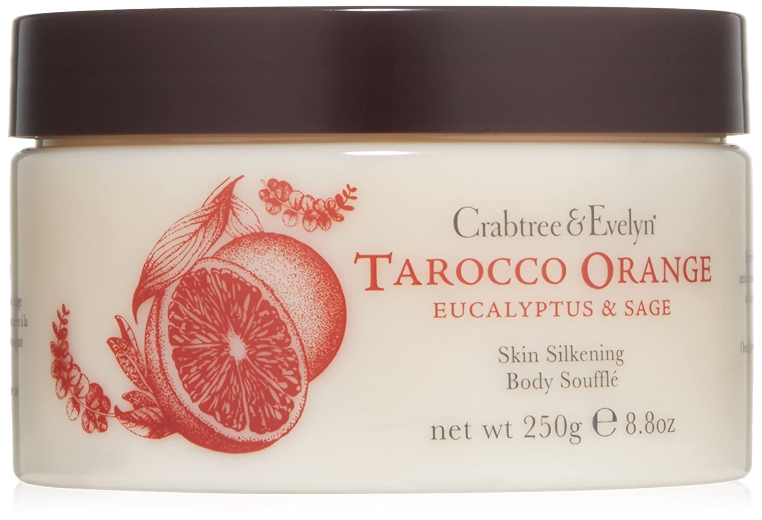 Crabtree and Evelyn Tarocco Orange/Eucalyptus and Sage Body Souffle 250g 79997