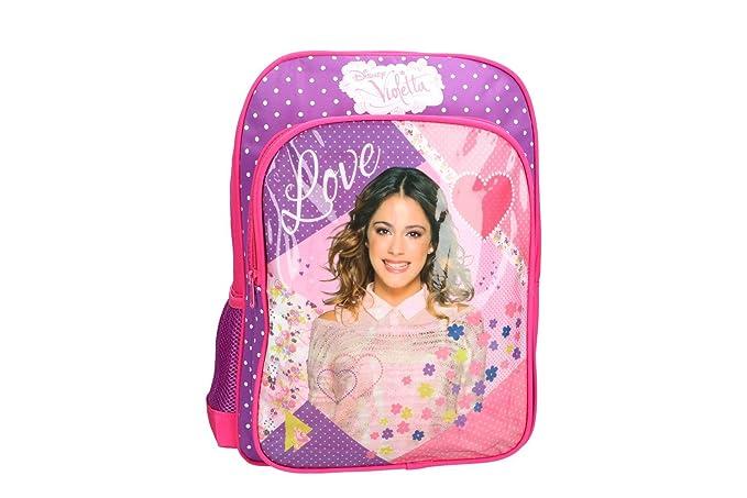 Mochila niña DISNEY VIOLETTA bolsa de ocio escolar rosa VZ334: Amazon.es: Ropa y accesorios