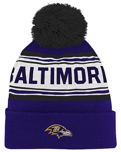 663307f97f6 Amazon.com   NFL Youth Boys Jacquard Cuffed Knit Hat with Pom ...
