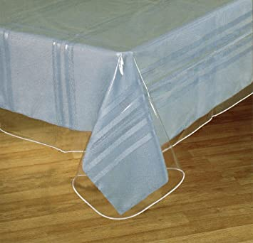 Clear Plastic Tablecloth Protector, Table Cloth Vinyl (60u0026quot; X ...