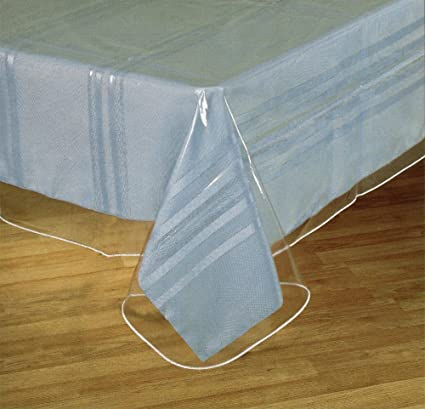 Amazon sofinni clear plastic tablecloth protector table cloth sofinni clear plastic tablecloth protector table cloth vinyl 60quot workwithnaturefo