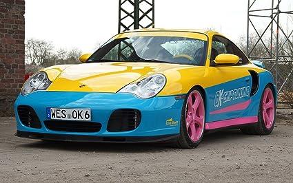 Classic y los músculos de los coches y coche en marcha en manta-Porsche OK