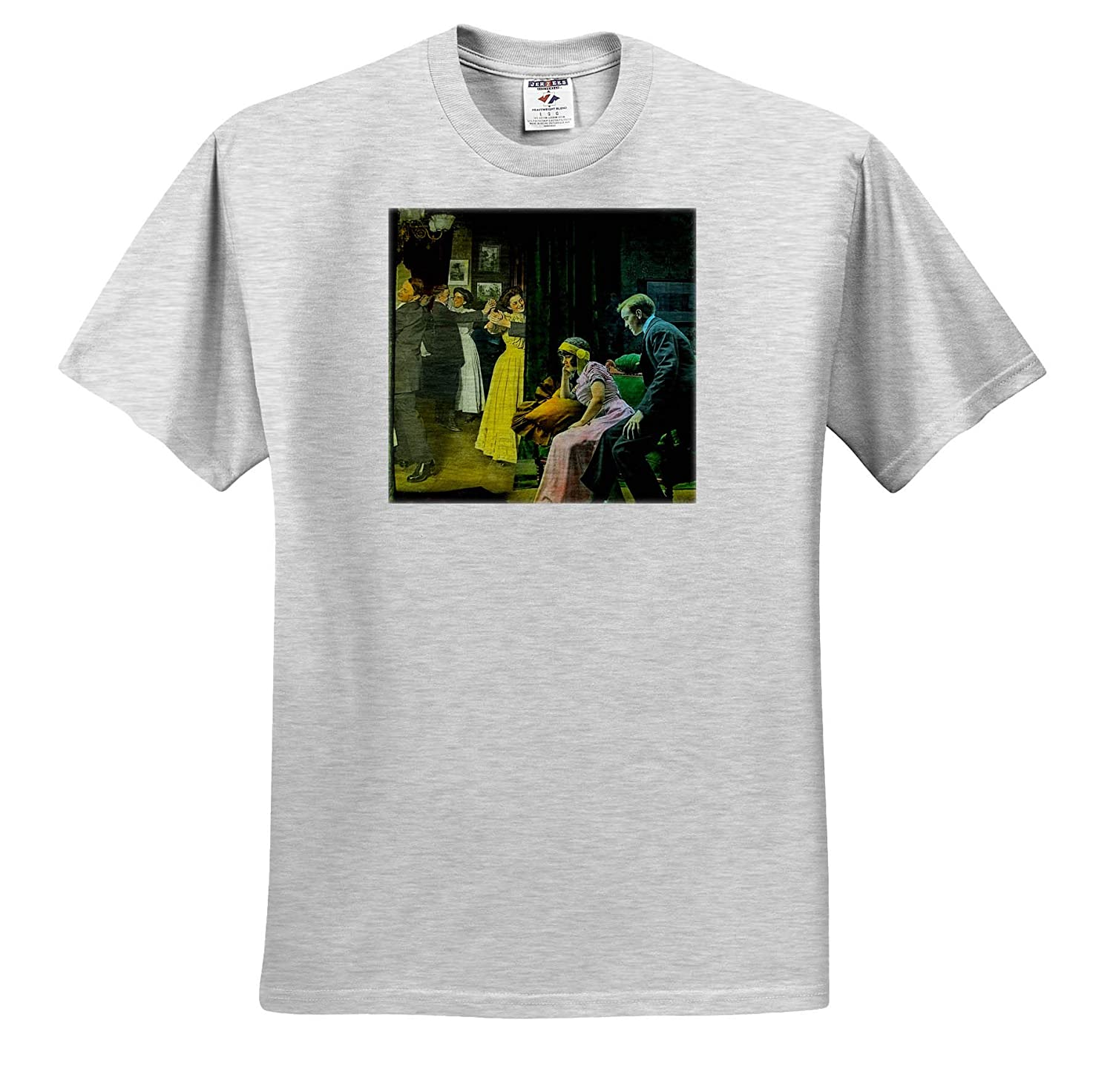 T-Shirts Scott and Van Altena Sing Along Slide A Bad Time at The Party Magic Lantern 3dRose Scenes from The Past