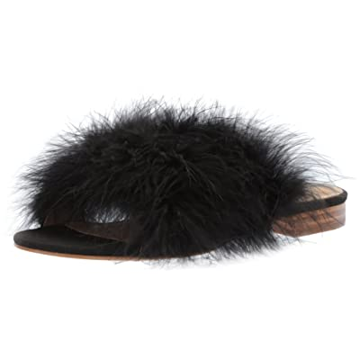 Brand - The Fix Women's Nadia Feather Slide Sandal Flat: Clothing