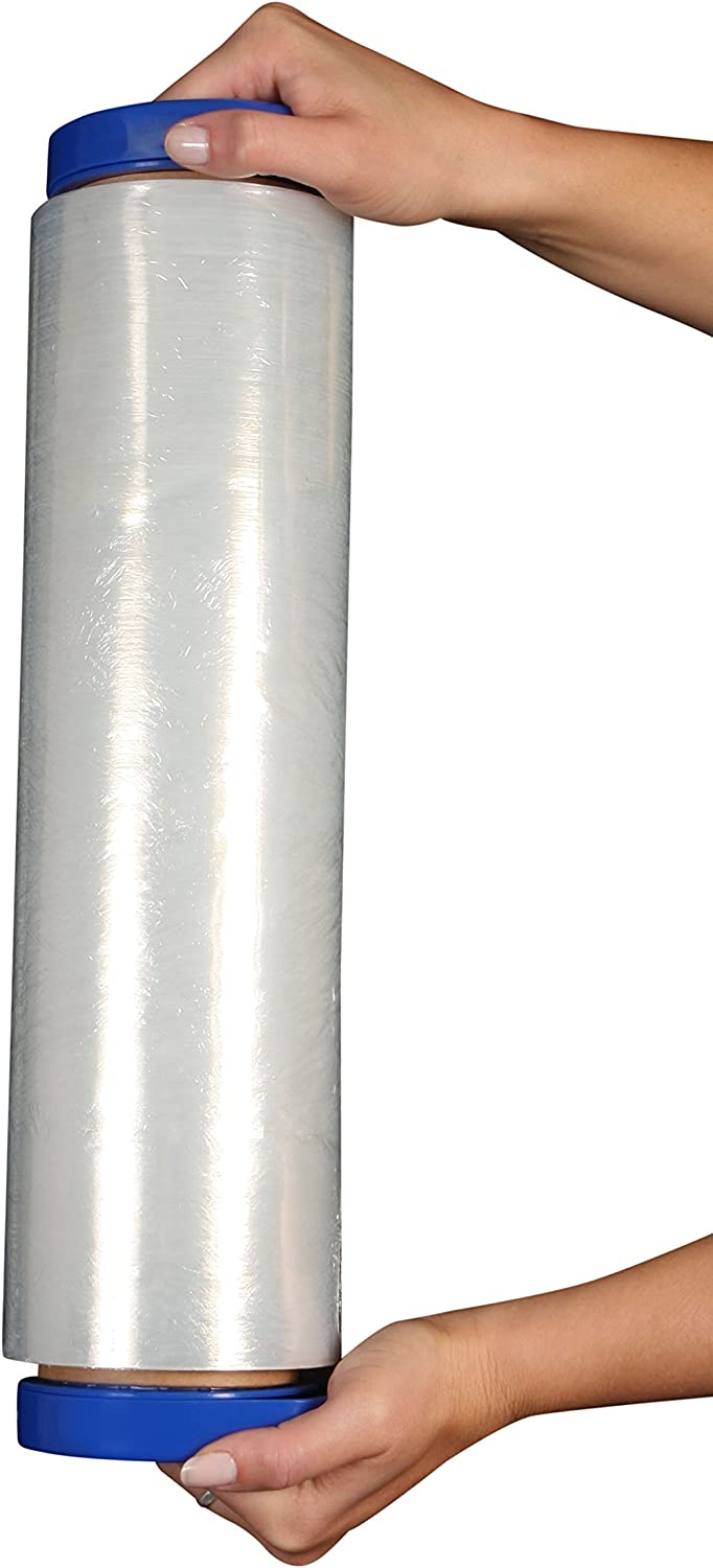 "Kleer-Guard Stretch-Wrap with Tension Control Handle. 20"" x 1,000 ft./roll. 80 Gauge Equivalent. 1 Roll Two Tension Control Handles"