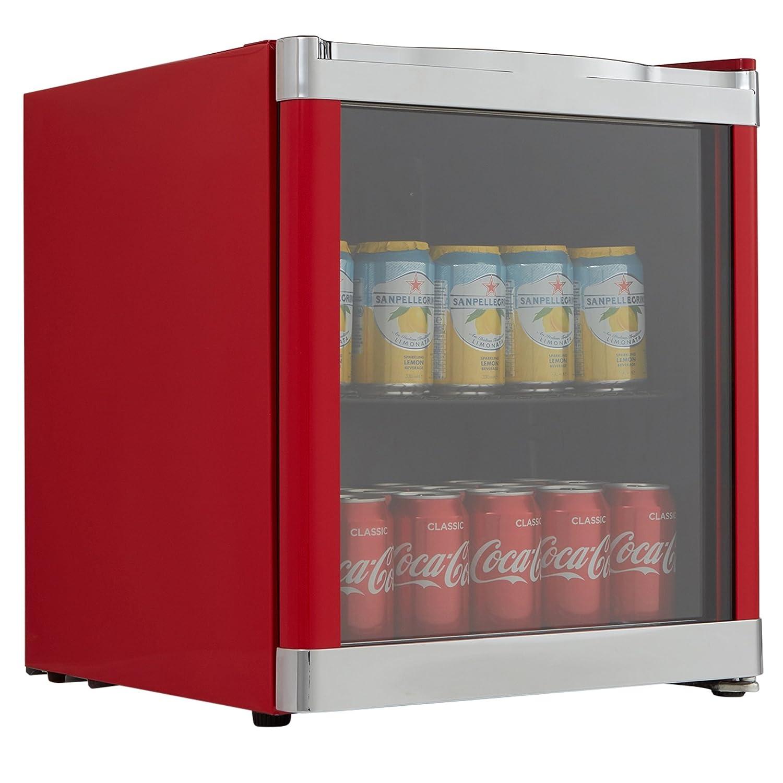Cookology Red Table Top Drinks Fridge - Mbc46Rd Glass Door