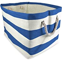 """DII, Woven Paper Storage Bin, Collapsible, 11x10x9"""", Rugby Blueberry"""