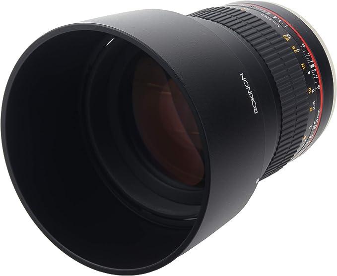 Rokinon Ae85m C 85 Mm F1 4 Asphärisches Objektiv Mit Kamera