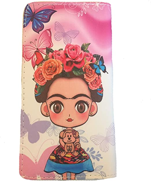 Frida Kahlo Mexican Inspired Coin Purse Pouch Wallet NEW