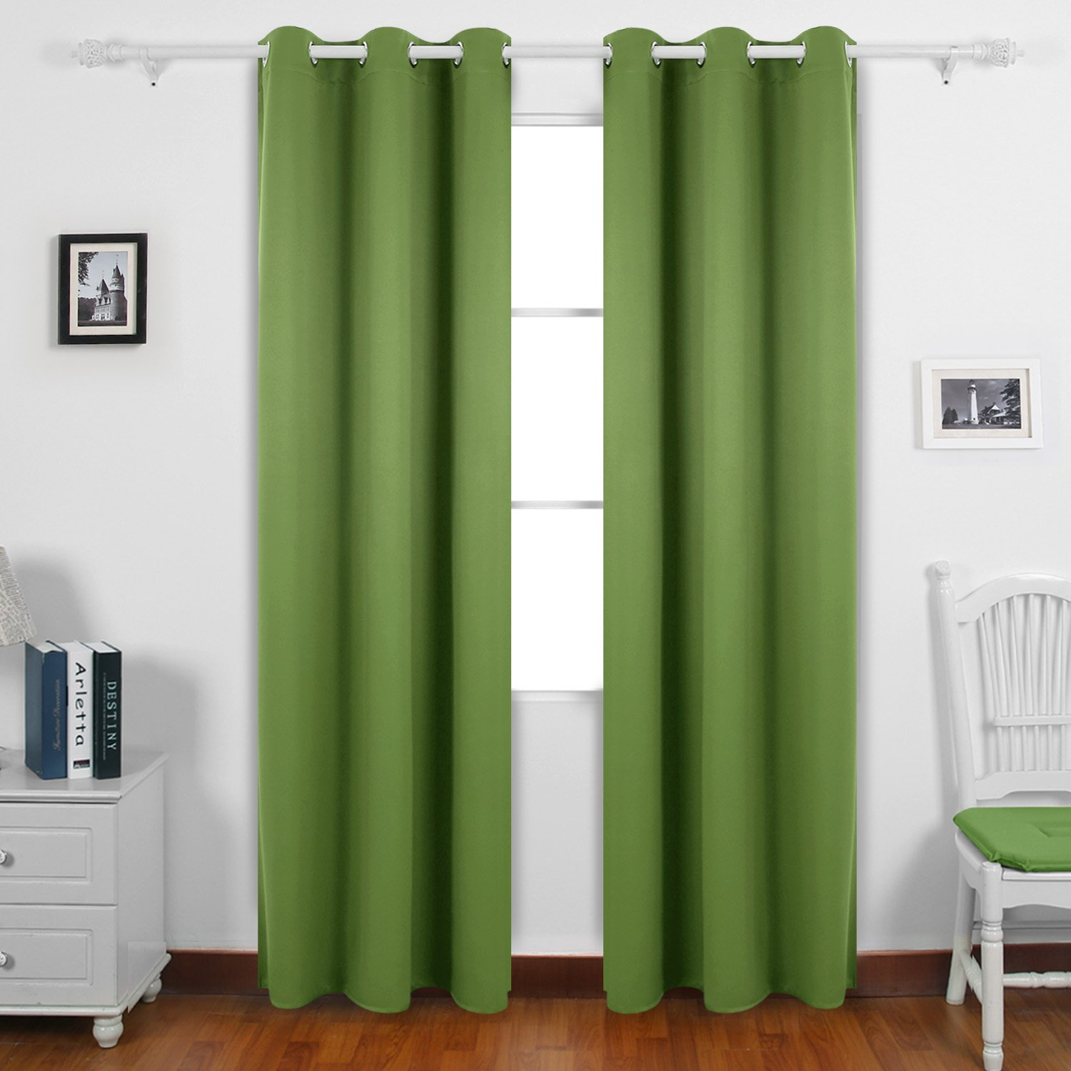 Deconovo Thermal Insulated Curtain Grommet Room Darkening Curtains for Windows