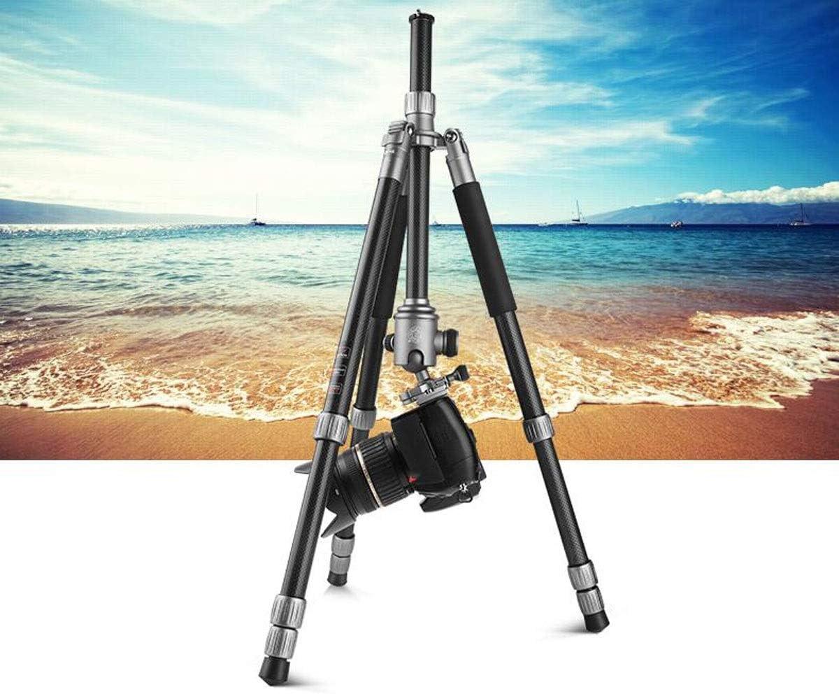 Professional Carbon Fiber Tripod Stable Stand Detachable Foot Portable Photography Tripod PTZ Set Color : Black HAOYUSHANGMAO Camera Stand