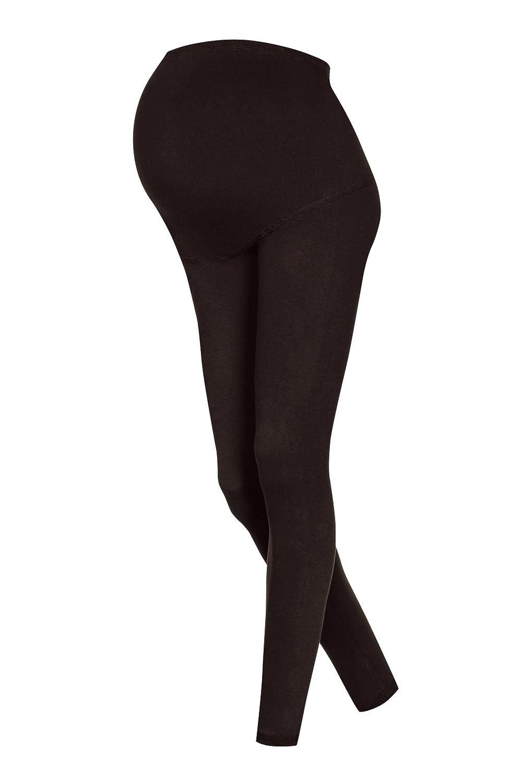 Lot de 2 leggings de grossesse maternité en coton longueur 3/4, 8 différentes couleurs