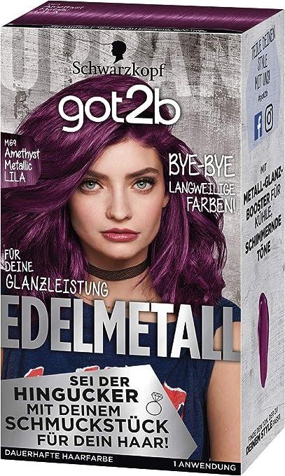 Schwarzkopf GOT2B M69 - Tinte para el cabello (142 ml), color morado metalizado