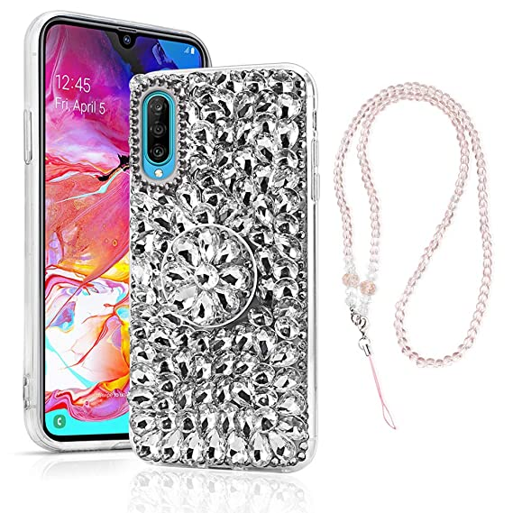 Amazon.com: Samsung Galaxy A70 Case, Bling Glitter Luxury ...