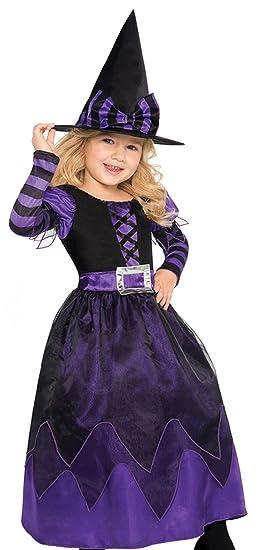 Disfraz De Bruja Para Nina Con Vestido De Fiesta Adornado Para - Disfraz-de-bruja-para-bebe