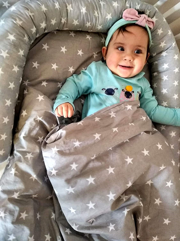 chichoneras cuna 60x120 ropa camas de beb/é chichonera cuna protector de cuna 120x60 bebe algod/ón acolchado protector para bordes 180 x 30 Gris