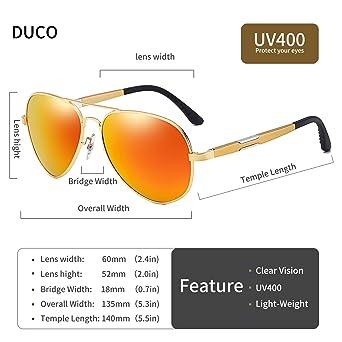 Amazon.com: DUCO 3026 - Gafas de sol polarizadas (protección ...