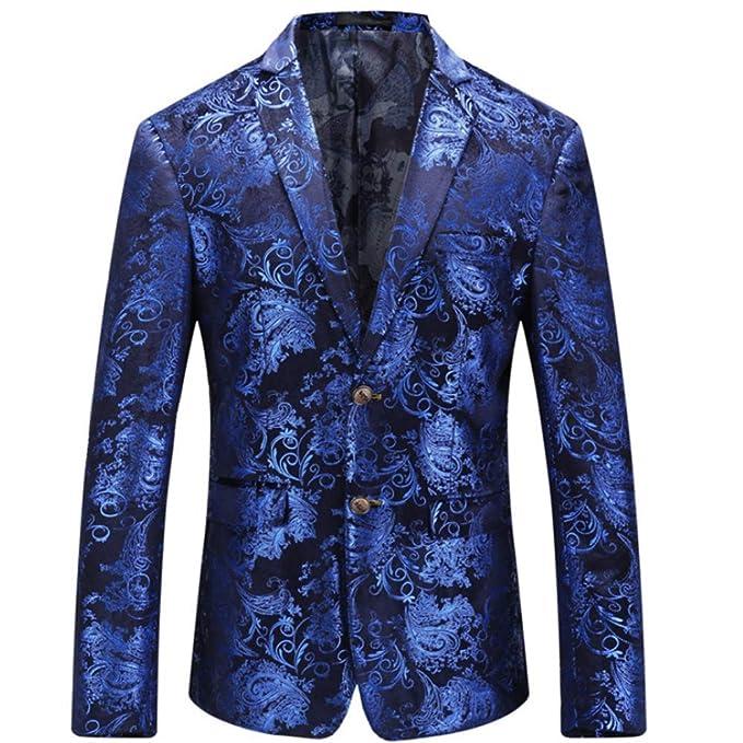 ZPFXED Traje De Vestir Casual De Lujo De Los Hombres Trajes De Estampado Floral con Estilo Chaquetas Elegantes Chaquetas Elegantes: Amazon.es: Ropa y ...