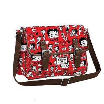 92d96d0d4 BETTY BOOP Rouge - Bolso al Hombro para Mujer con Cremallera y Botón  Metálico - Color Rojo: Amazon.es: Equipaje